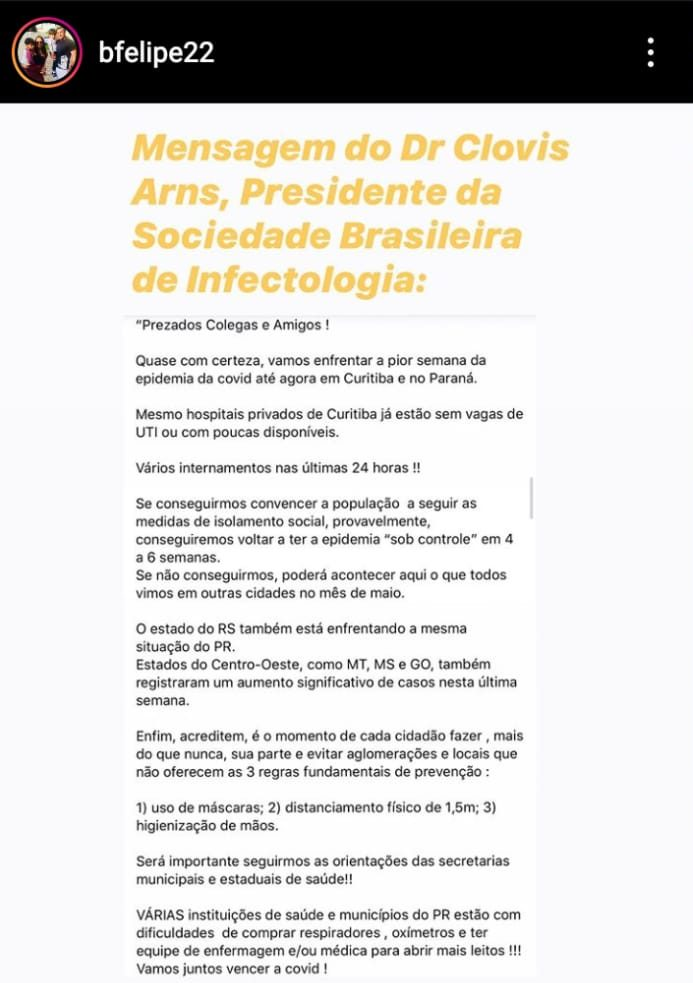 Curitiba Alerta Laranja Covid-19